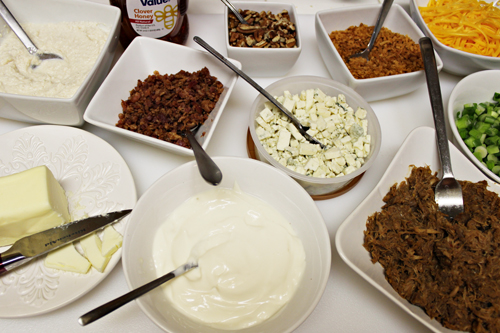 Toppings for a DIY Baked Sweet Potato Bar