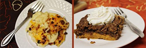 Thanksgiving Menu Twist: Loaded Baked Mashed Potatoes & Pumpkin Dump Cake