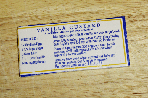 Easy Baked Vanilla Custard recipe