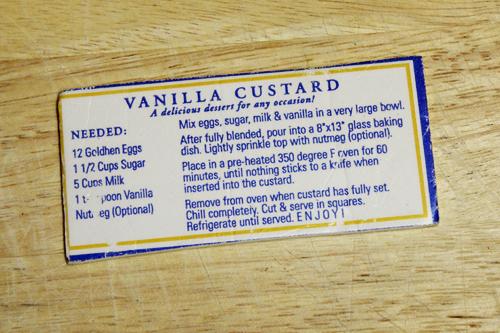 Easy Baked Vanilla Custard recipe
