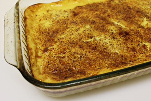 Easy Baked Vanilla Custard from my Dad