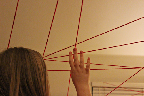 Amazing Spider-Man Family Fun Night - Yarn Spiderwebs