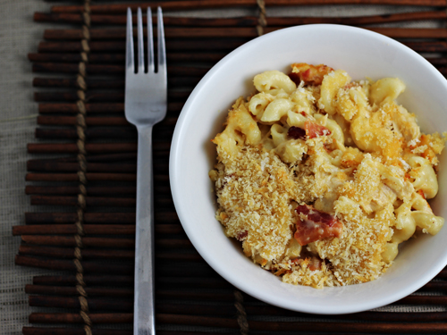 Chicken-Bacon Macaroni and Cheese