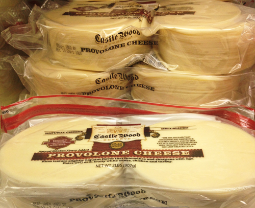 Casle Wood Provolone Cheese for Oven Baked Chicken Cheesesteak Sandwiches
