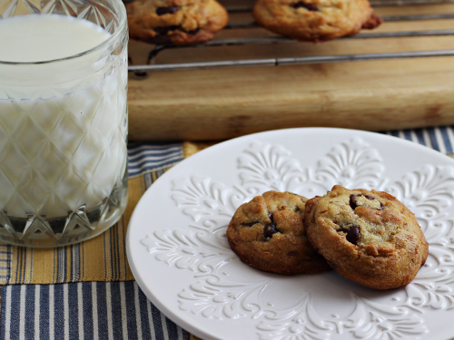 Chocolate Chip Coconut Cookies (made with coconut oil)