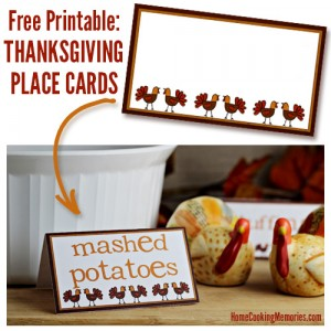 Free Printable - Thanksgiving Place Cards
