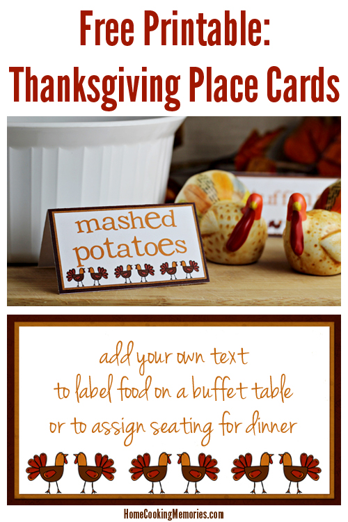 Free Printables - Thanksgiving Place Cards