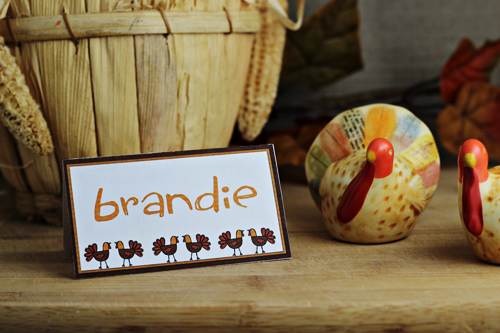 Free Printables; Thanksgiving Place Cards for Seating