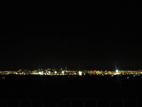 view of las vegas from las vegas motor speedway