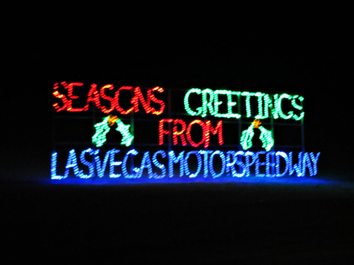 Christmas in vegas holiday lights at las vegas speedway for Motor speedway las vegas christmas lights