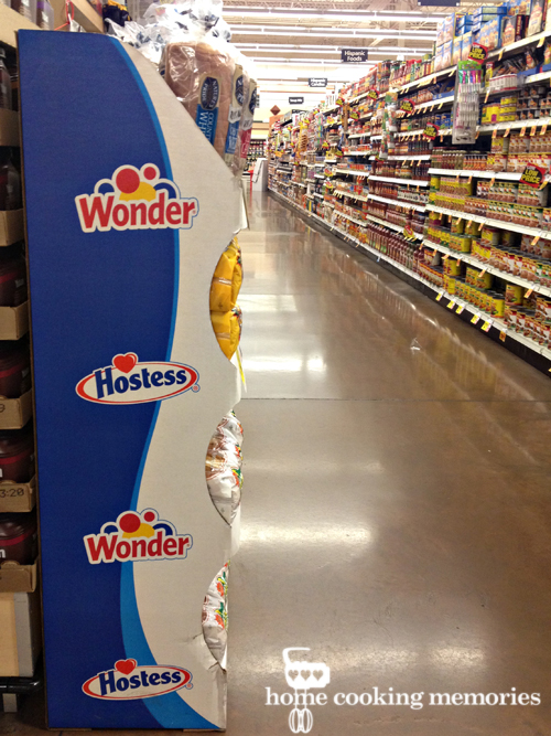 Hostess Wonder Bread Display in Grocery Store