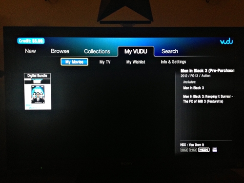 Men in Black 3 on VUDU
