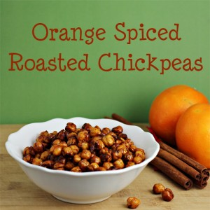 Orange Spiced Roasted Chickpeas