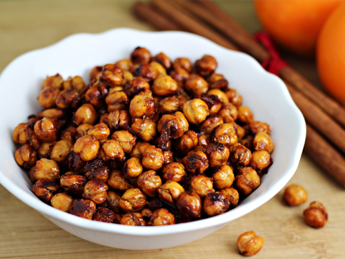 Orange Spiced Roasted Chickpeas (Garbanzo Beans)