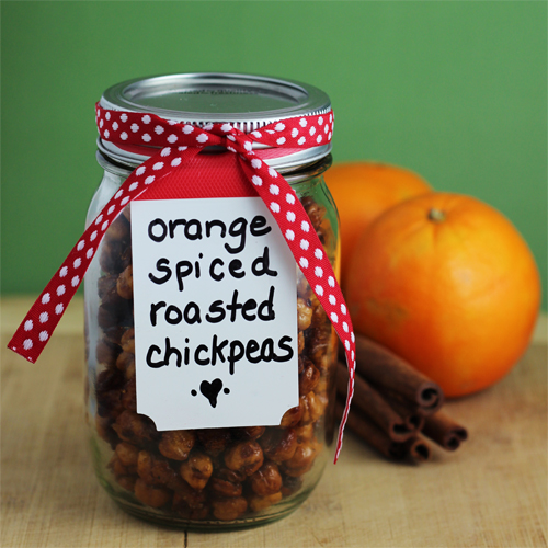 Gifts from the Kitchen: Orange Spiced Roasted Chickpeas