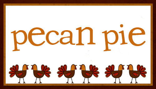 Thanksgiving Place Cards (Tented Table Cards)