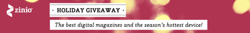Zinio Digital Magazines - Mini iPad Holiday Giveaway