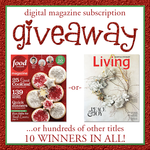 Zinio Digital Magazine Giveaway
