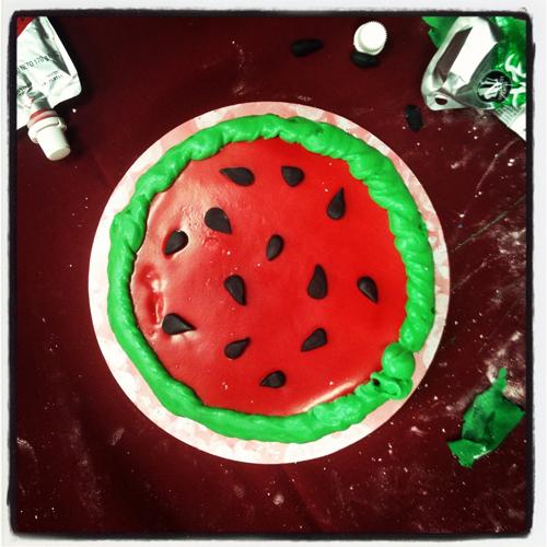 """Dirty Dancing"" Watermelon Cake"
