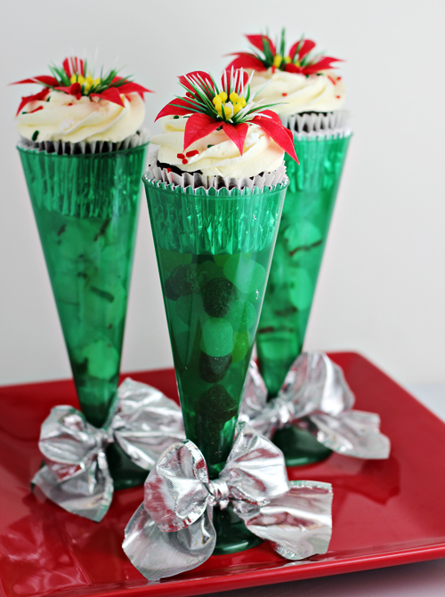 Cupcakes in Champagne Flutes