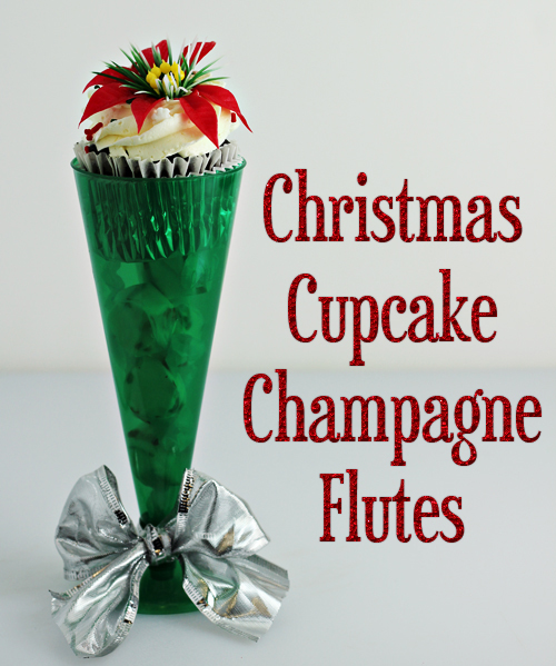 Christmas Cupcake Holders (using champagne flutes)