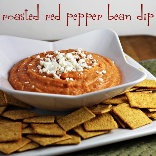 Roasted Red Pepper Bean Dip