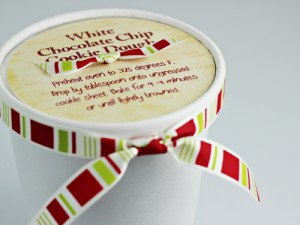Homemade Food Gifts: White Chocolate Chip Cookie Dough (with free printable label)