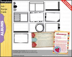 Recipe Cards Templates & Photoshop Brushes