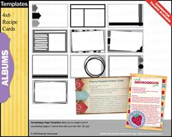 Recipe Cards Templates & Photoshop Brushes