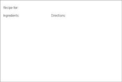 Free Printable Recipe Card (single card)