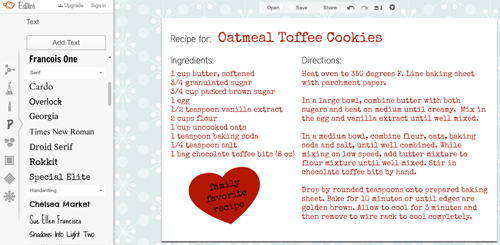 How to Create Recipe Card in PicMonkey