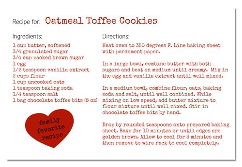 how to make a recipe card