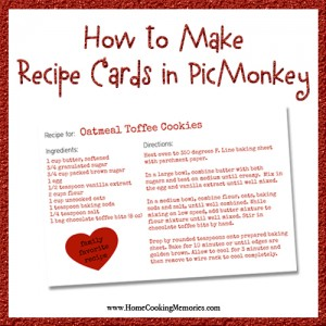 How to Make Recipe Cards in PicMonkey