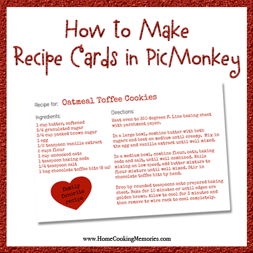 How to Create Recipe Cards in PicMonkey sq
