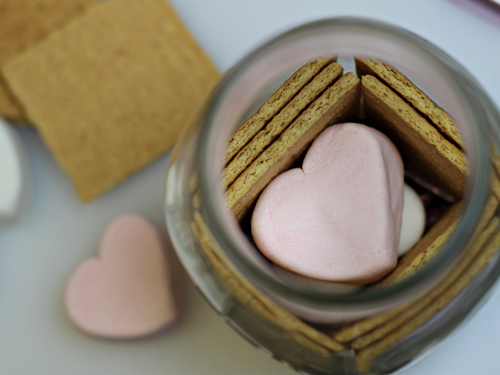 Valentine Smores in a Jar