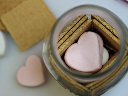 Valentine Smores in a Jar