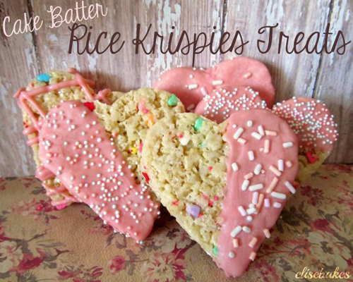 Elise Bakes - Cake Batter Rice Krispies Treats