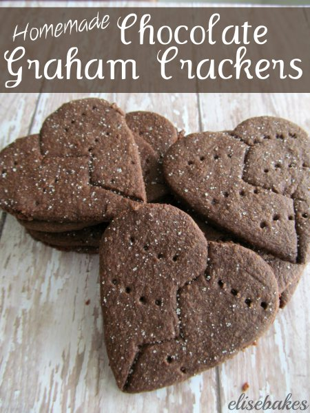 Chocolate Graham Crackers by Elise Bakes