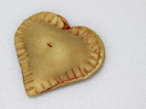 Cherry Heart Pie made with Cookie Cutter