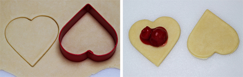 Cherry Heart Pies, made with cookie cutter