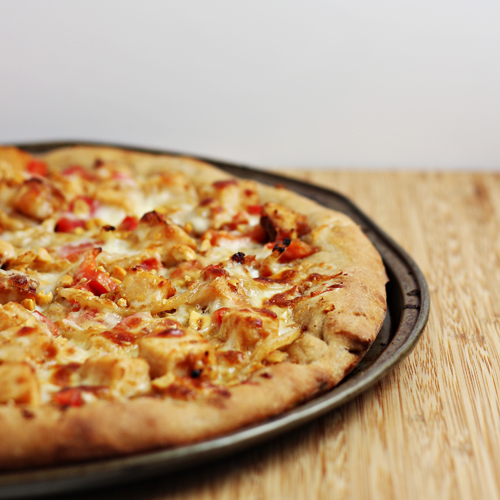 Asian style pizza