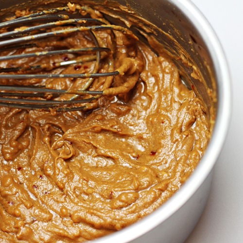 Peanut Sauce for Asian Chicken Pizza