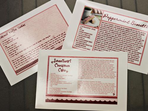 Recipe Cards, printed at Walgreens