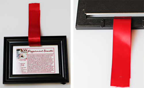 Framed Recipe Cards with Ribbon
