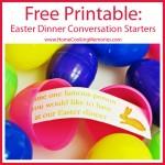 Free Printable: Easter Dinner Conversation Starters