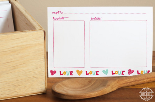 Bizuza - LOVE recipe card