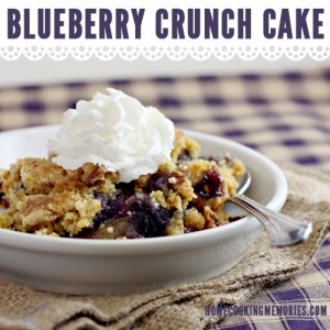 Easy Recipe: Blueberry Crunch Dump Cake