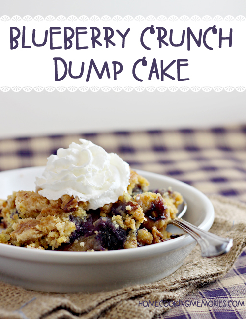 Easy Recipe: Blueberry Crunch Dump Cake