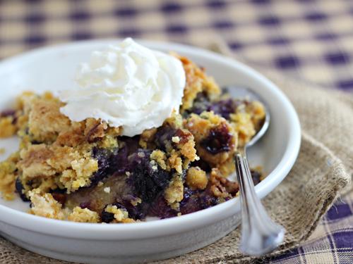 Blueberry crisp yellow cake mix