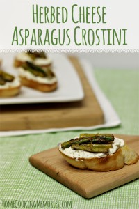 Easter Holiday Appetizer: Herbed Cheese Asparagus Crostini
